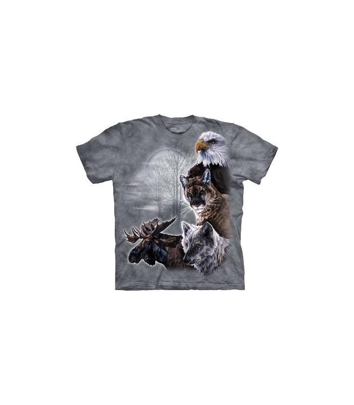 T-Shirt Animaux Nord Américains par The Mountain