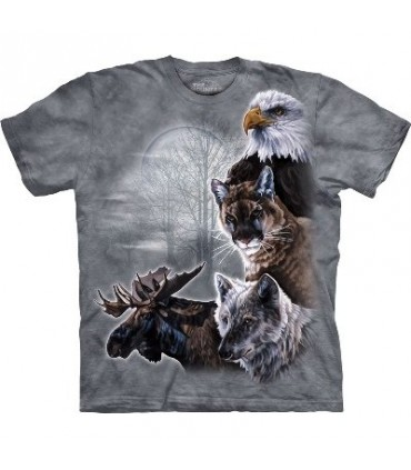 North American Collage - Animal T Shirt by the Mountain