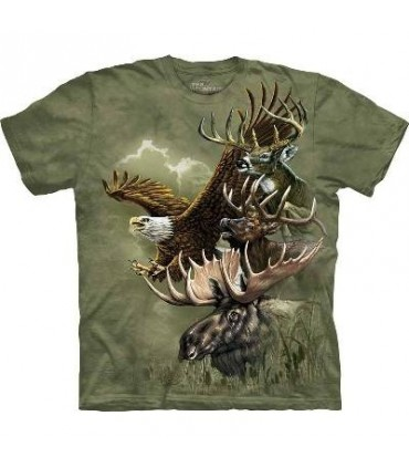 North American Totem Animal Collage T Shirt by The Mountain