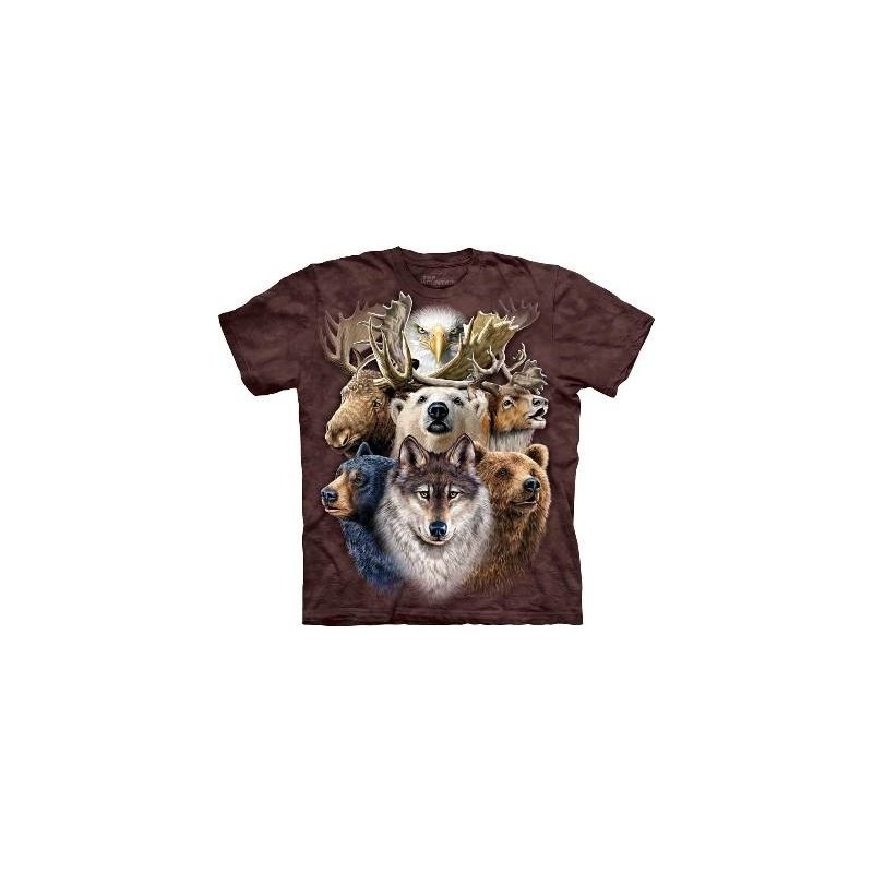 T-Shirt Animaux Nord-Américains par The Mountain