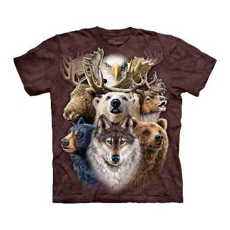 Northern Wildlife Collage - Animals T Shirt by the Mountain