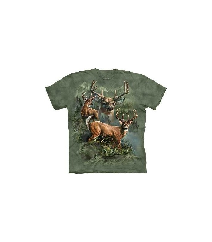 Deer Collage - Animals T Shirt by the Mountain