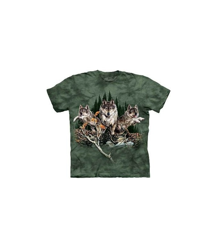 Trouver 12 Loups - T-shirt Loup The Mountain