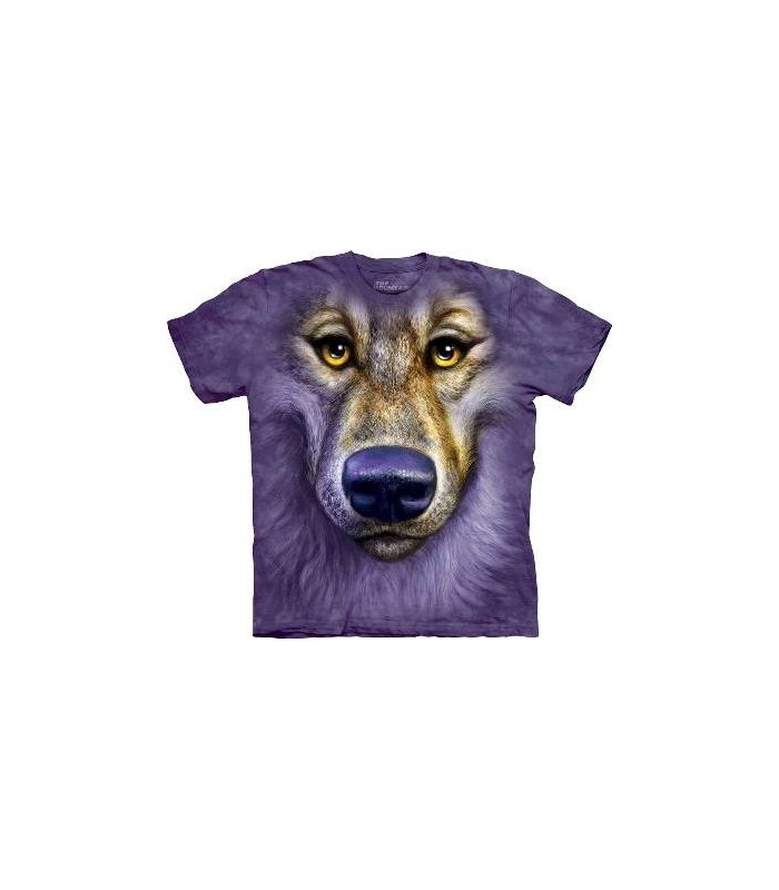Friendly Wolf Face - Wolf T Shirt by the Mountain
