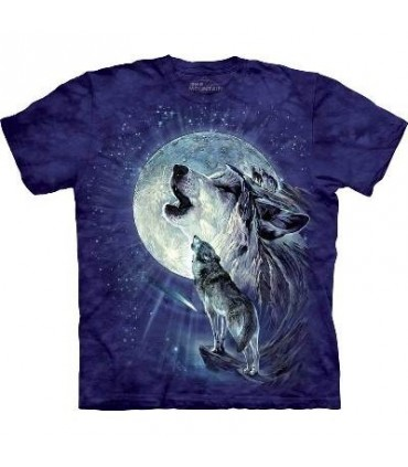 Full Moon Gravity - Wolf T Shirt by the Mountain