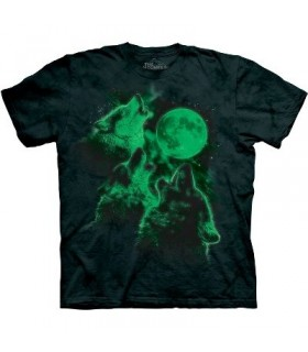 T-Shirt Loups Lumineux par The Mountain