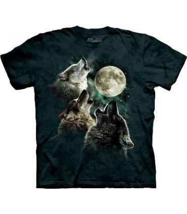 Glow Wolf Moon - Animals T Shirt by the Mountain