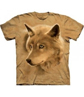 Golden Eyes - Wolf T Shirt by the Mountain