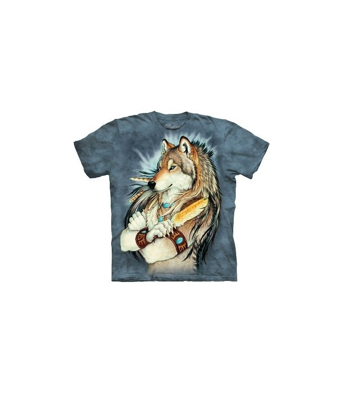 Golden Feather - Wolf T Shirt by the Mountain