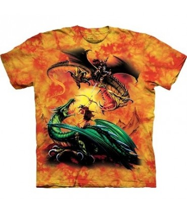 T-Shirt Duel de Dragons par The Mountain
