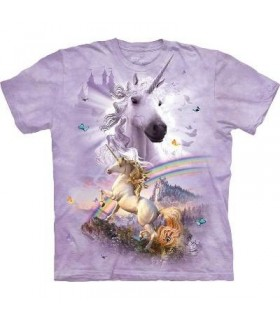 Double Rainbow Unicorn - Fantasy T Shirt by the Mountain