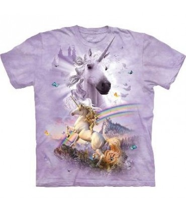 T-Shirt Licorne et Arc en Ciel par The Mountain