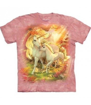 Mother and Baby Unicorn - Fantasy T Shirt by the Mountain