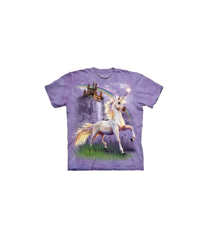 Unicorn Castle - Fantasy T Shirt by the Mountain