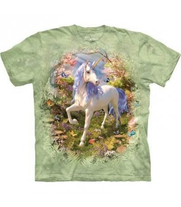 T-Shirt Licorne dans la forêt par The Mountain