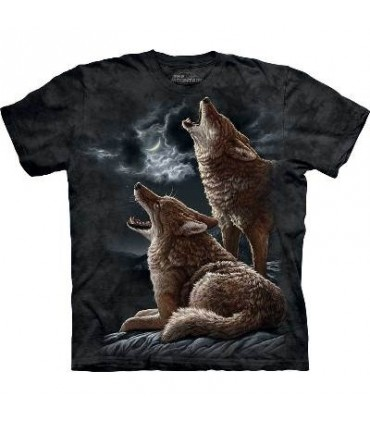 Howling Coyotes - Animals T Shirt by the Mountain