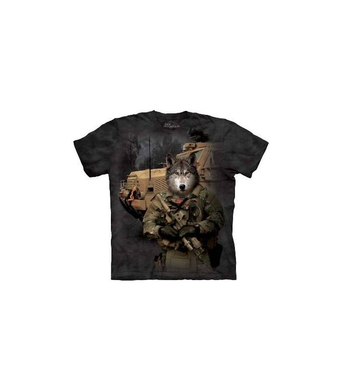 JTAC Lonewolf - Military Wolf T Shirt by the Mountain