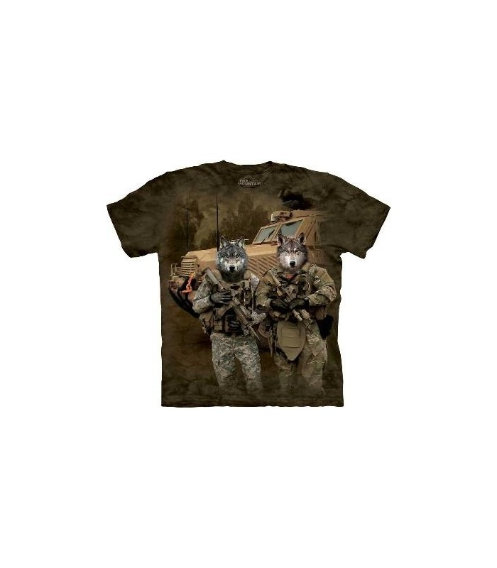 JTAC Wolfpack - Military Wolf T Shirt by the Mountain