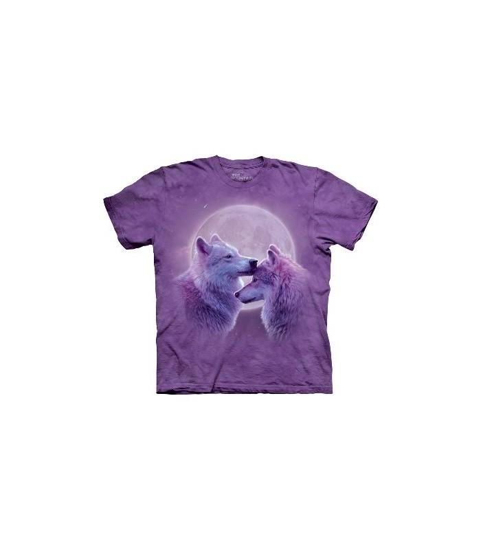 T-Shirt Loups amoureux par The Mountain