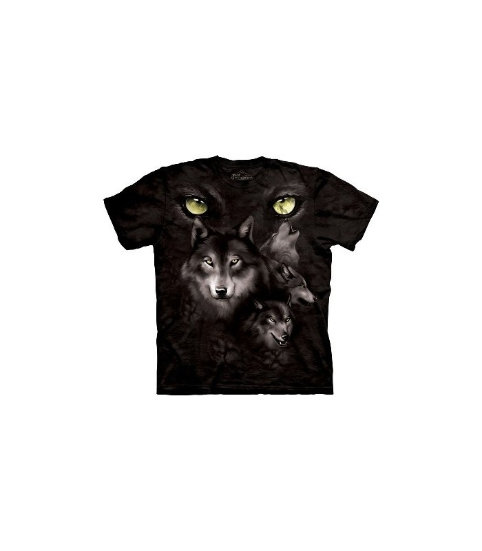 Moon Eyes Collage - Wolf T Shirt by the Mountain