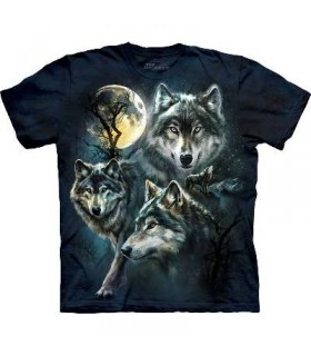 T-Shirt Loups de la Lune par The Mountain