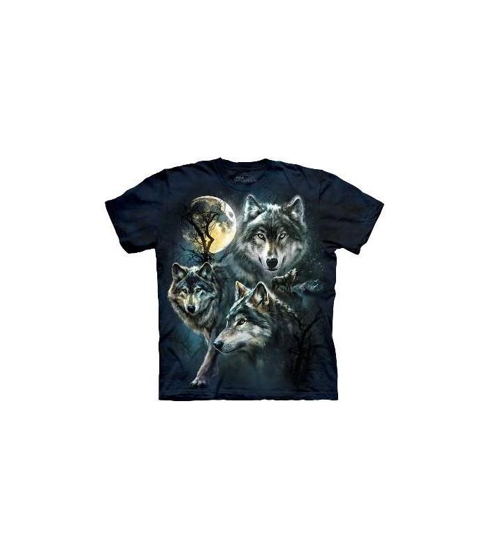 T-Shirt Loups de la Lune par The Mountain