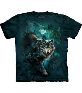 Night Wolves - Wolf T Shirt by the Mountain