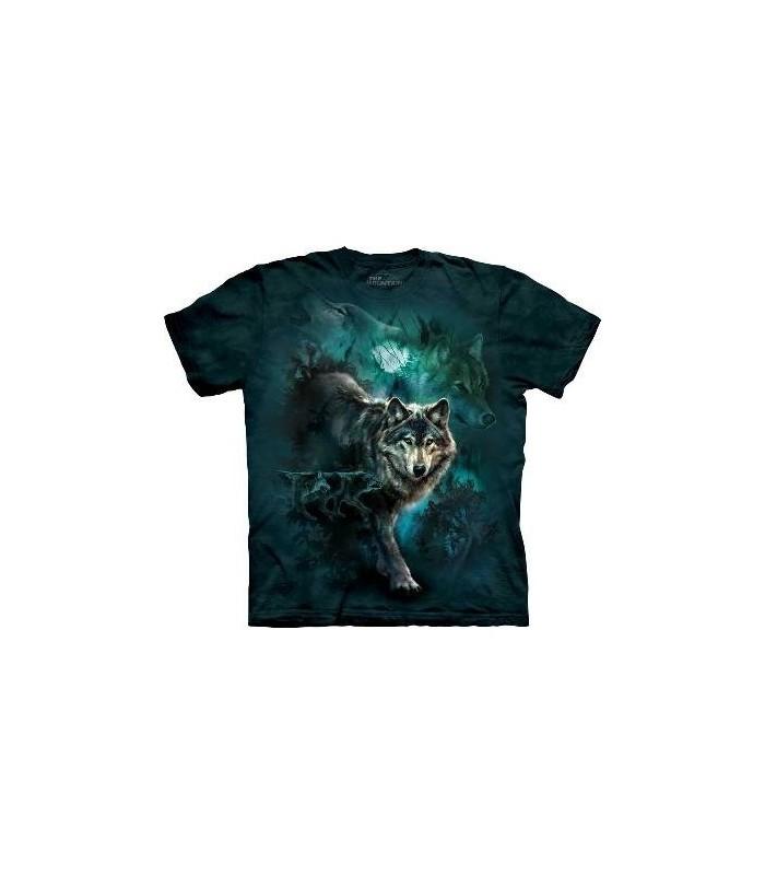 T-Shirt Loups de la Nuit par The Mountain