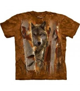 The Guardian - Wolf T Shirt by the Mountain