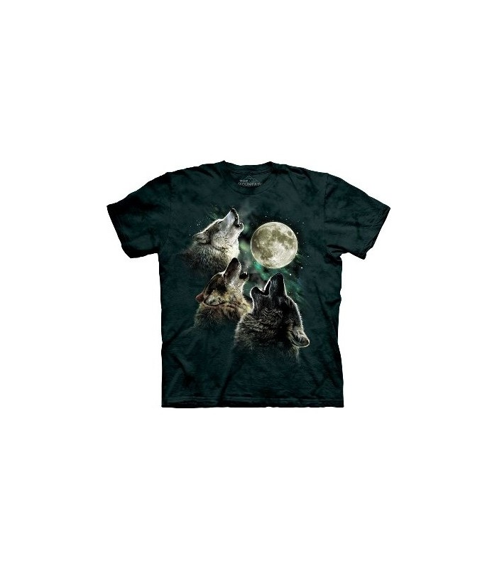 Three Wolf Moon - Wolf T Shirt The Mountain
