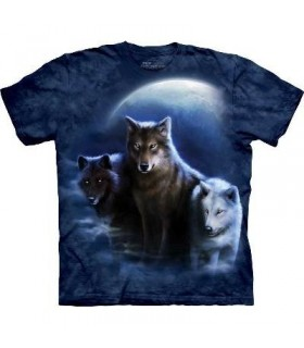 T-Shirt 3 Loups la nuit par The Mountain