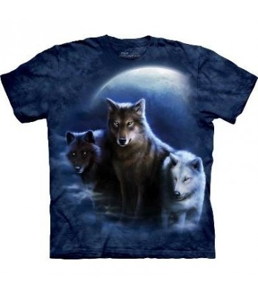 Three Wolf Night - Animals T Shirt by the Mountain