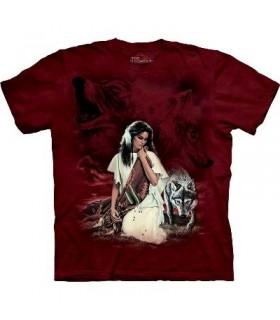 T-Shirt Indien Robe Blanche par The Mountain
