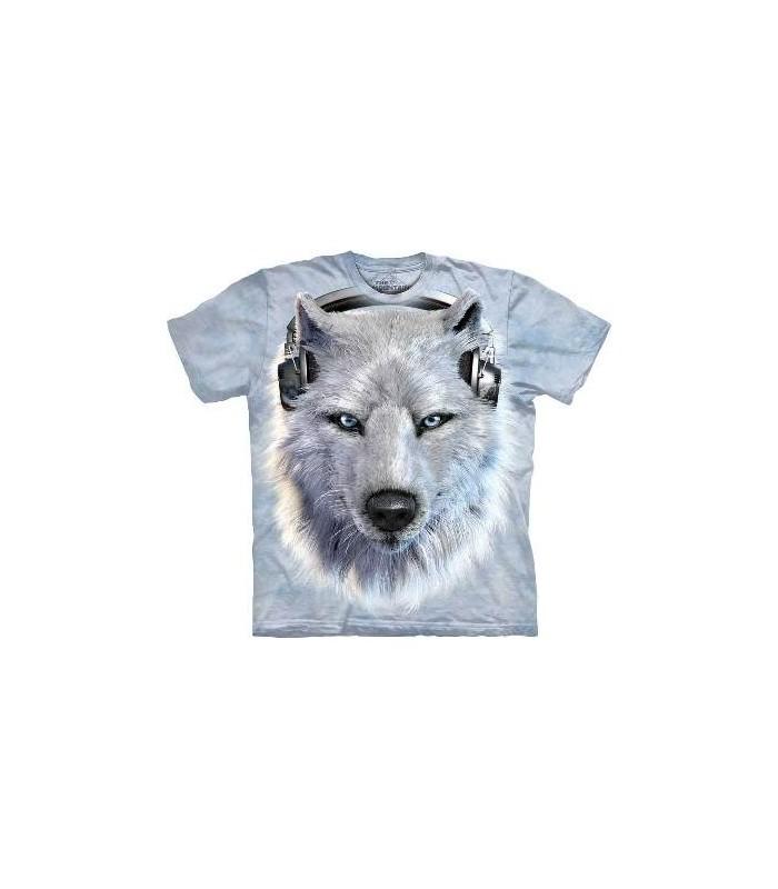 T-Shirt Loup Blanc DJ par The Mountain