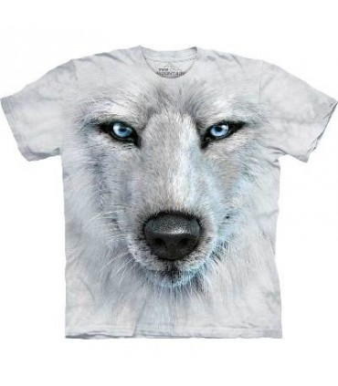 T-Shirt Loup Blanc par The Mountain