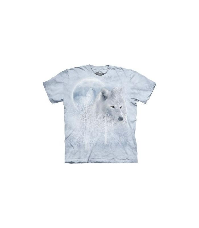 T-Shirt Loup blanc et Lune par The Mountain