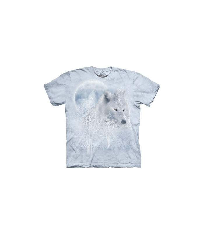 White Wolf Moon - Wolf T Shirt by the Mountain