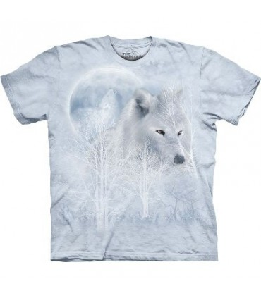 T-Shirt Loup blanc et Lune par The Mountain