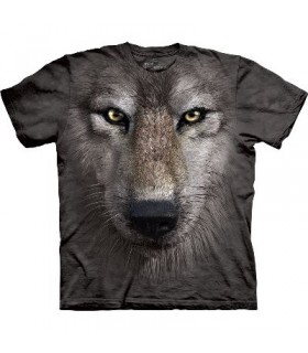 Wolf face - Animals T Shirt by the Mountain