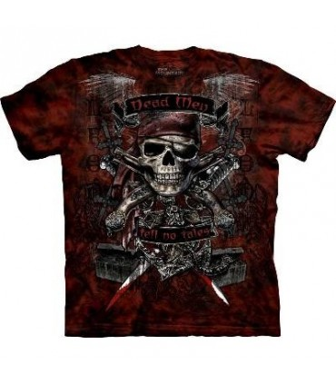 Hommes morts T-shirt Pirate par The Mountain
