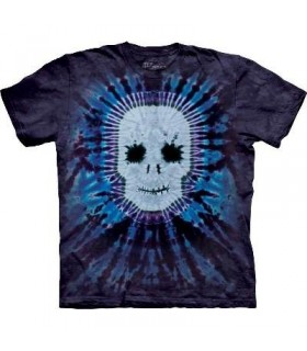Tie Dye Skull - Skull T Shirt by the Mountain