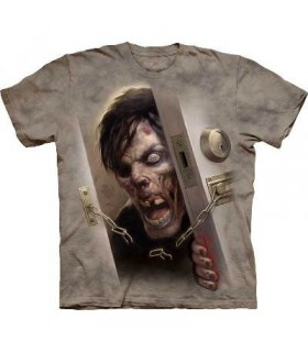 Zombie at the Door - Dark Fantasy T Shirt by the Mountain