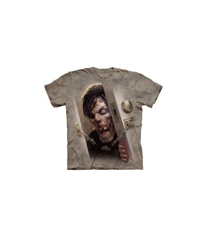 T-Shirt Zombie à la Porte par The Mountain