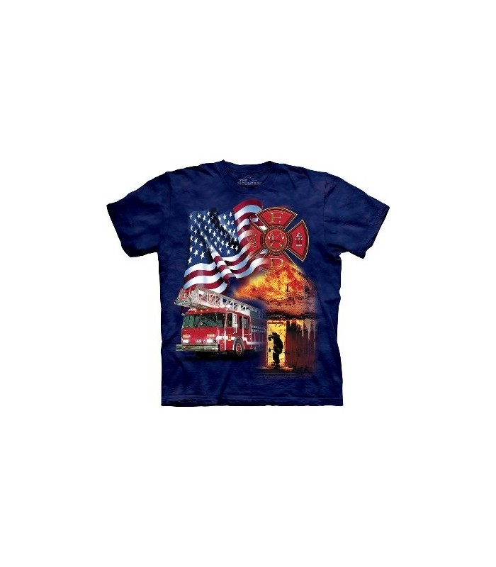 T-Shirt Fireman Flag par The Mountain