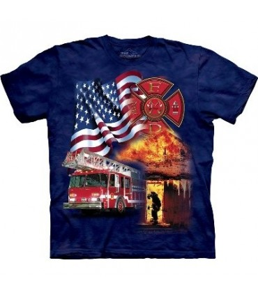 Fireman flag - USA Shirt The Mountain