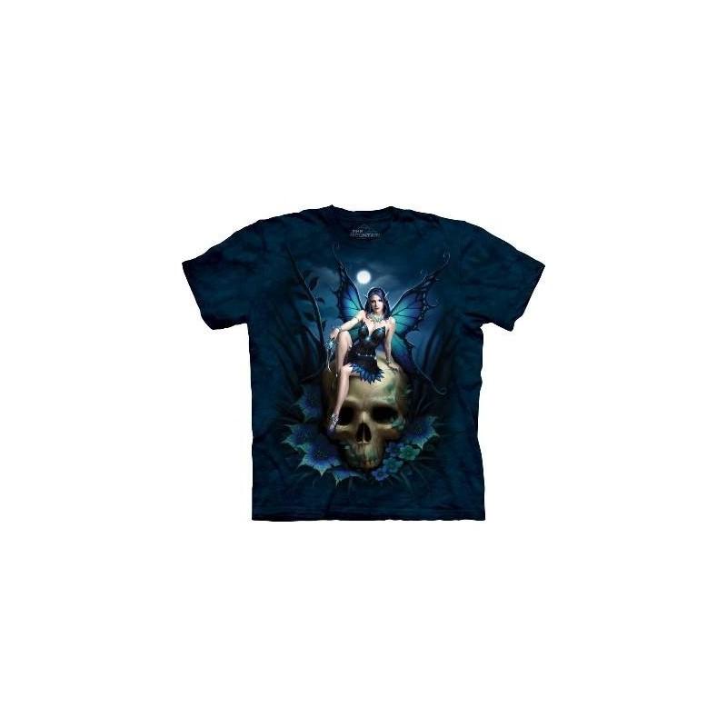 Fée sur un Crâne - T-Shirt Gothique par The Mountain