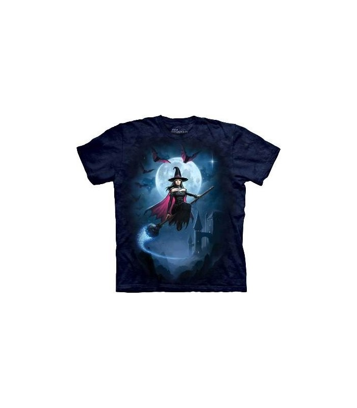 Witch's Flight - Fantasy T Shirt by the Mountain