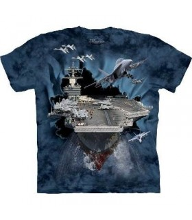Aircraft Carrier Breakthrough Military T Shirt the Mountain