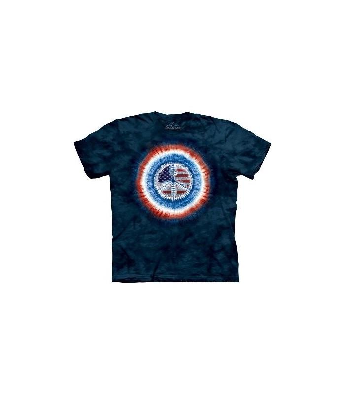 T-Shirt Drapeau de la Paix par The Mountain