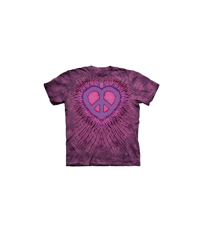 Peace Heart - Inspirational T Shirt by the Mountain